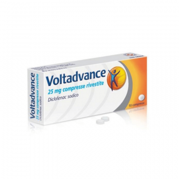 VOLTADVANCE 10 COMPRESSE RIVESTITE 25 MG