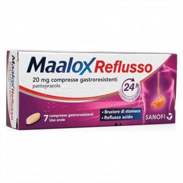 MAALOX REFLUSSO 20 MG PANTOPRAZOLO 20 MG 7 COMPRESSE