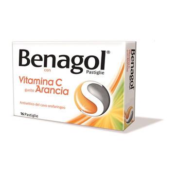 BENAGOL VIT C 16PAST ARANCIA