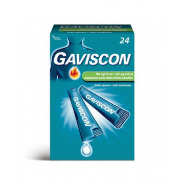 GAVISCON SOSPENSIONE ORALE AROMA MENTE 500 MG + 267 MG 24 BUSTINE