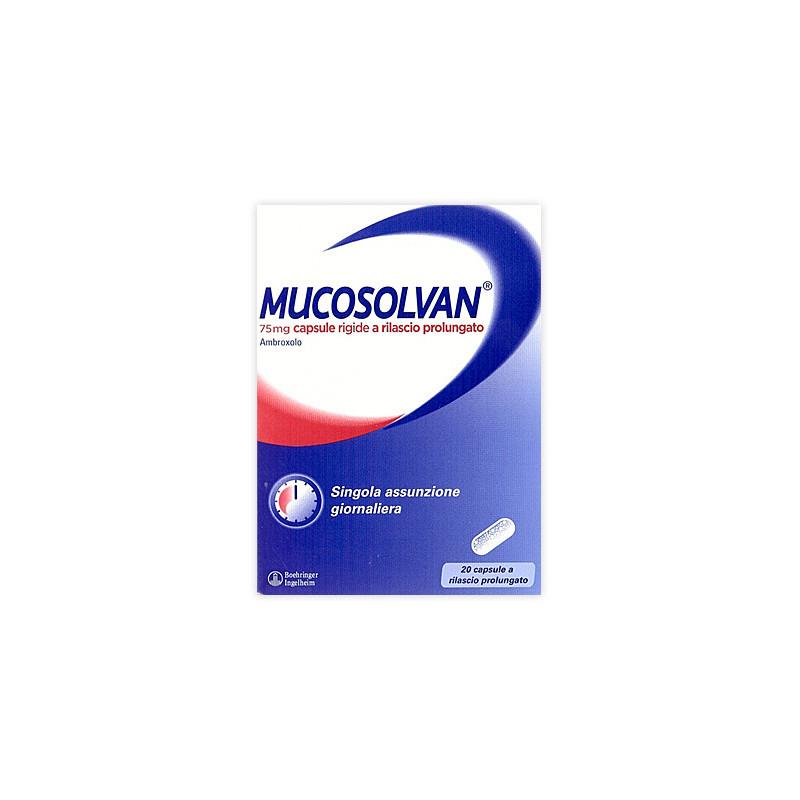 MUCOSOLVAN 20CPS 75MG RP