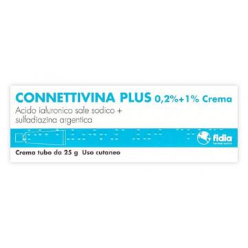 CONNETTIVINA PLUS 0,2% +1% CREMA TRATTAMENTO ULCERE E PIAGHE 25 GRAMMI