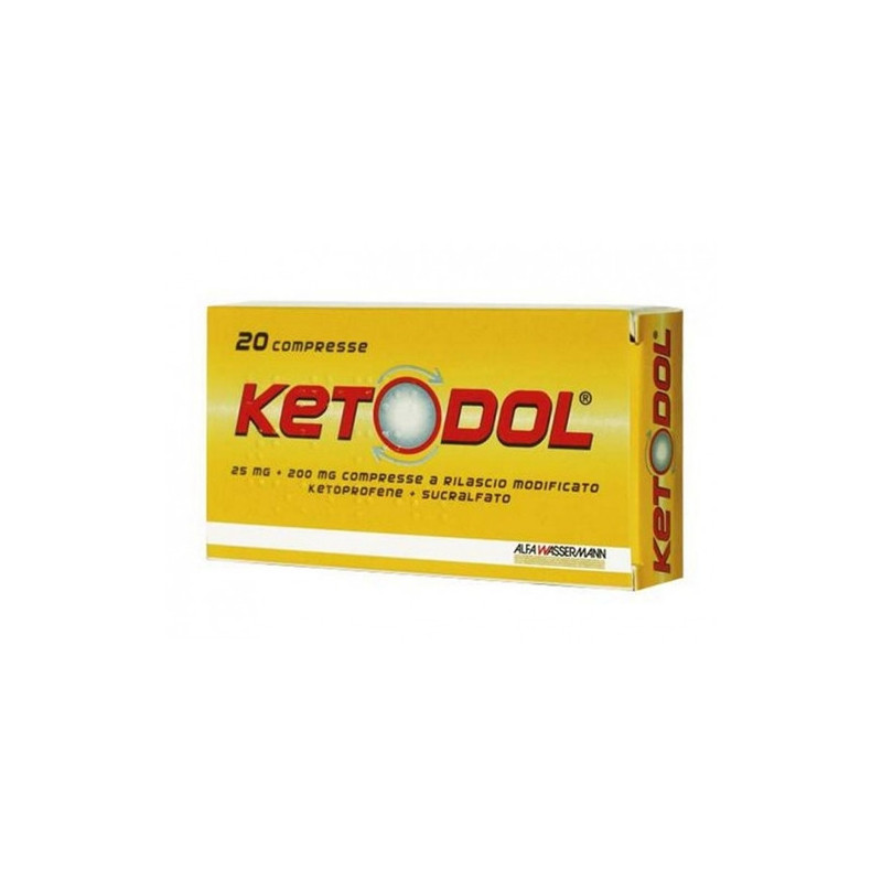 KETODOL 25MG+200MG ANTINFIAMMATORIO 20 COMPRESSE
