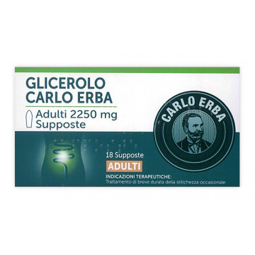CARLO ERBA GLICEROLO AD 18 SUPPOSTE  2250 MG