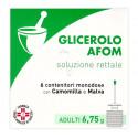 GLICEROLO AFOM SOLUZIONE RETTALE 6 CONTENITORI DA 6,75 GRAMMI