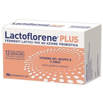 LACTOFLORENE PLUS INTEGRATORE FERMENTI LATTICI 12 BUSTINE OROSOLUBILI
