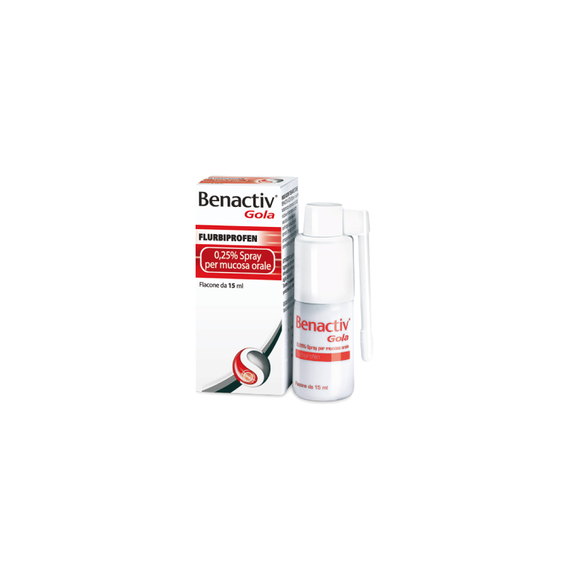BENACTIV GOLA SPRAY PER MUCOSA ORALE 2,5 MG/ML 15 ML