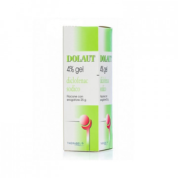 DOLAUT GEL SPRAY FL 25G 4%