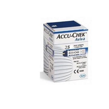 ACCU-CHEK AVIVA STRISCE REATTIVE GLICEMIA 25 STRISCE