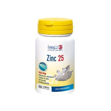 LONGLIFE ZINC 25 MG 100 COMPRESSE INTEGRATORE ALLO ZINCO