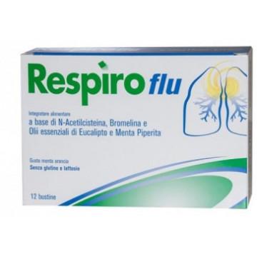 RESPIRO FLU INTEGRATORE EMOLLIENTE E LENITIVO VIE RESPIRATORIE 12 BUSTINE
