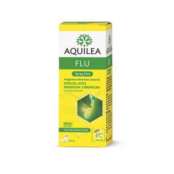 AQUILEA FLU SPRAY GOLA INTEGRATORE ALIMENTARE VIE RESPIRATORIE 20 ML