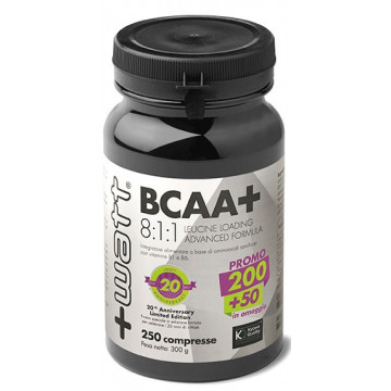 BCAA+ 8:1:1 LEUCINE LOADING ADVANCED FORMULA 250 COMPRESSE INTEGRATORE AMINOACIDI ESSENZIALI