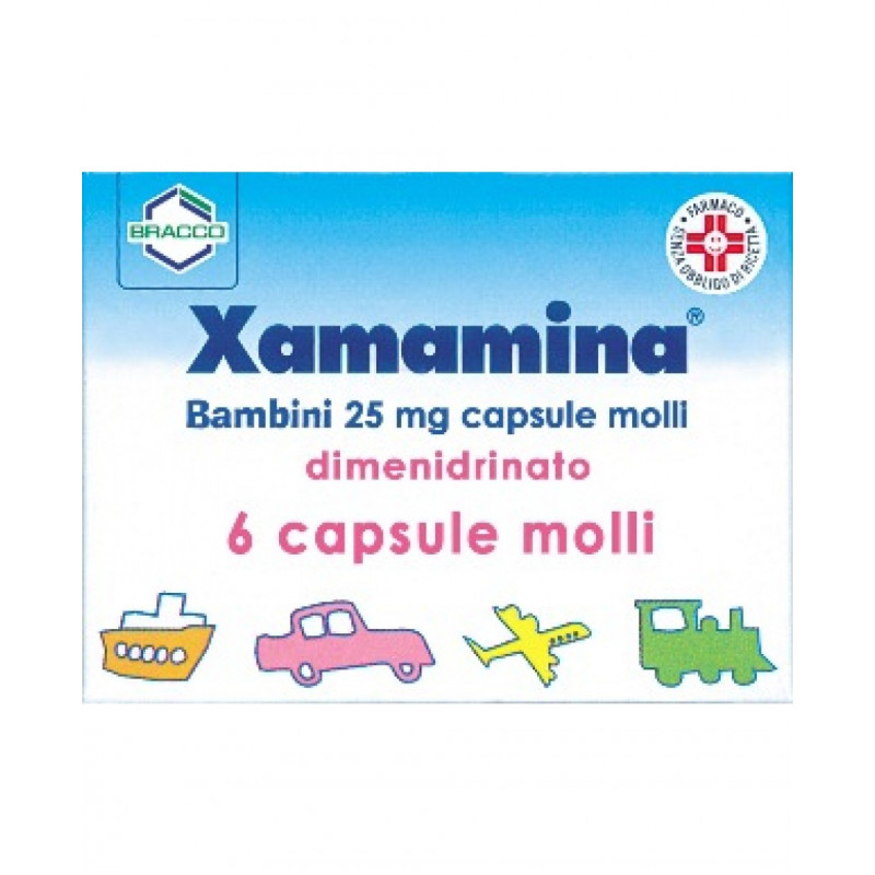 XAMAMINA 50 MG ANTIEMETICO E ANTINAUSEA  6 CAPSULE MOLLI