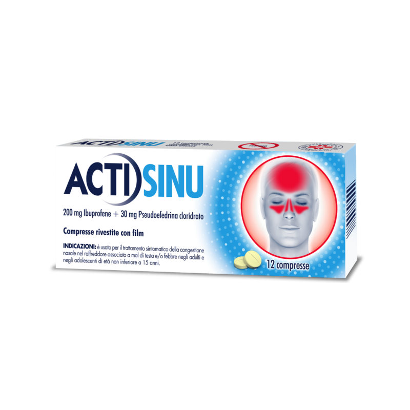 ACTISINU 12CPR 200MG+30MG