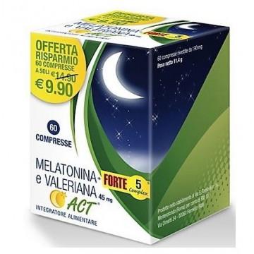 MELATONINA ACT 1 MG + VALERIANA 5 FORTE 60 COMPRESSE