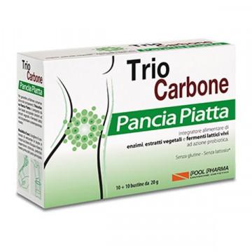 TRIO CARBONE PANCIA PIATTA INTEGRATORE 10+10 BUSTINE MONODOSE