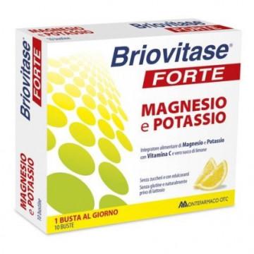 BRIOVITASE FORTE MAGNESIO E POTASSIO INTEGRATORE ALIMENTARE 10 BUSTINE