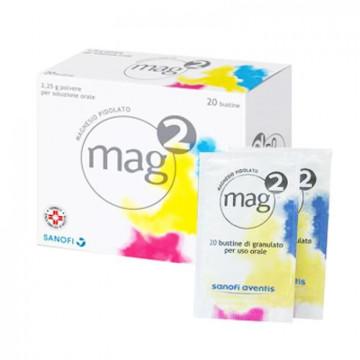 MAG2 INTEGRATORE ALIMENTARE MAGNESIO 20 BUSTINE GRANULATO USO ORALE MAG 2