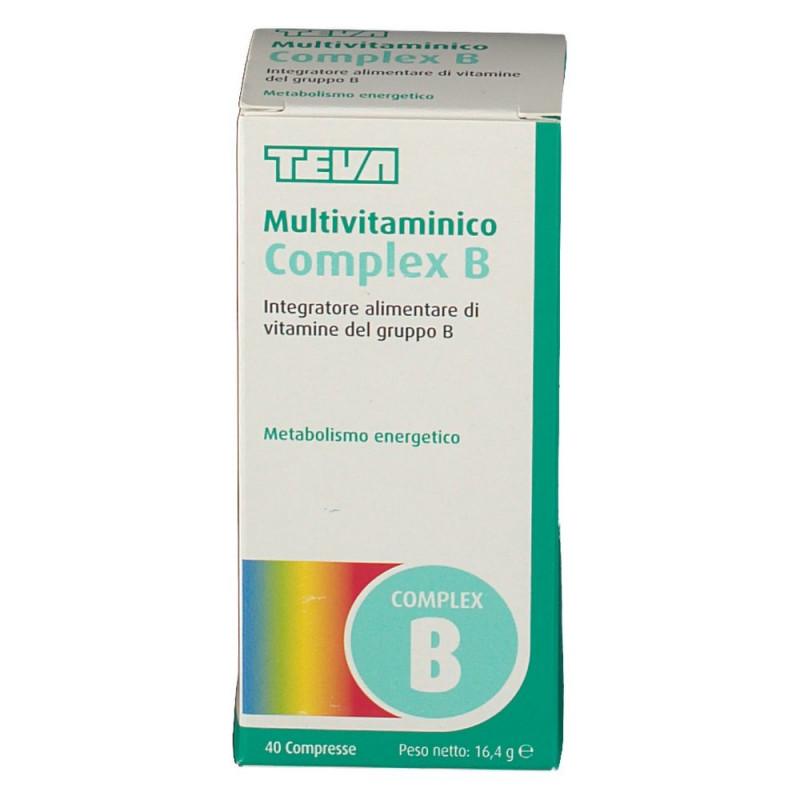 MULTIVITAMINICO COMPLEX B 40 COMPRESSE - INTEGRATORE VITAMINE GRUPPO B