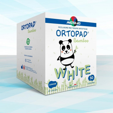 ORTOPAD WHITE JUNIOR 50 OCCLUSORI BAMBOO