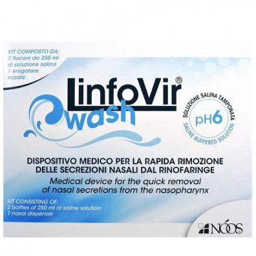 LINFOVIR WASH 500ML - DISPOSITIVO MEDICO DETERSIONE DEL RINOFARINGE