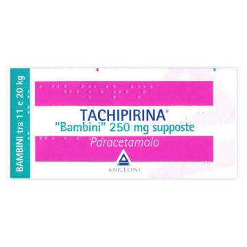 TACHIPIRINA BAMBINI 250 GRAMMI PARACETAMOLO 10 SUPPOSTE