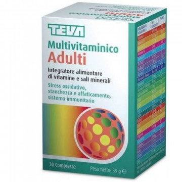 TEVA MULTIVITAMINICO ADULTI INTEGRATORE VITAMINE E MINERALI 30 COMPRESSE