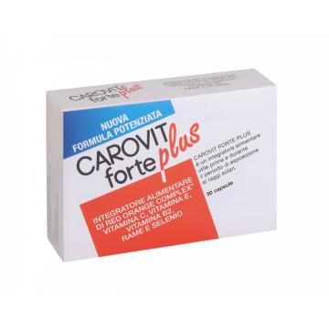 CAROVIT FORTE PLUS 30 CAPSULE INTEGRATORE ABBRONZATURA CON VITAMINE