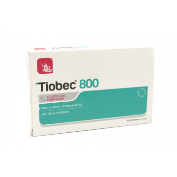 TIOBEC 800 INTEGRATORE ANTIOSSIDANTE E METABOLISMO ZUCCHERI 20 COMPRESSE FAST-SLOW