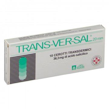 TRANSVERSAL 10 CEROTTI TRANSDERMICI VERRUCHE E CALLOSITÀ 36,3 MG/20MM