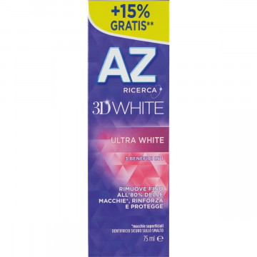 AZ 3D ULTRA WHITE DENTIFRICIO SBIANCANTE 65 ML + 10 ML