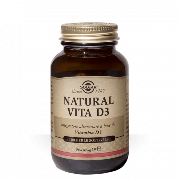 NATURAL VITA D3 100 PERLE - INTEGRATORE VITAMINA D