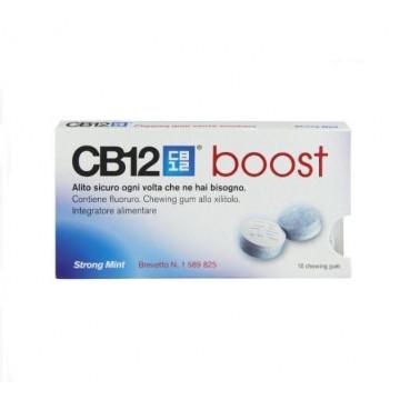 CB12 BOOST CHEWING-GUM ALLO XILITOLO 10 GOMME MASTICABILI ALLA MENTA