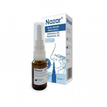 NAZAR SPRAY NASALE IPERTONICO 3%  PER CONGESTIONE NASALE 20 ML