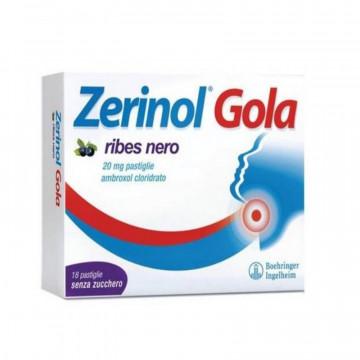 ZERINOL GOLA RIBES NERO PER MAL DI GOLA 18 PASTIGLIE DA 20 MG